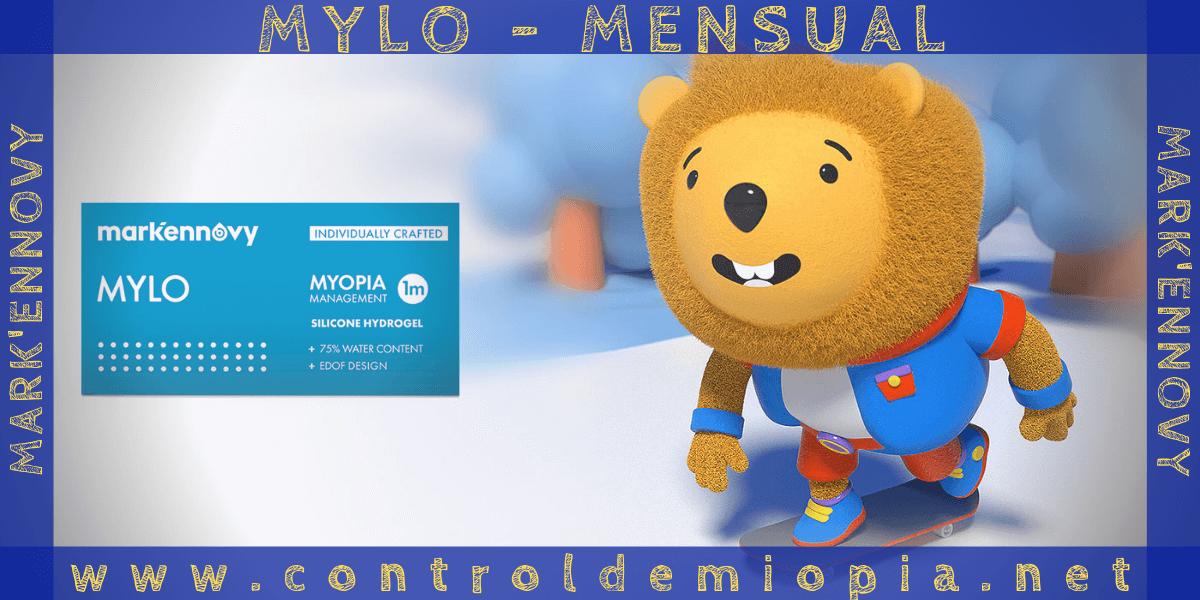 lentillas MYLO mensuales para el control de miopía de Mark'Ennovy
