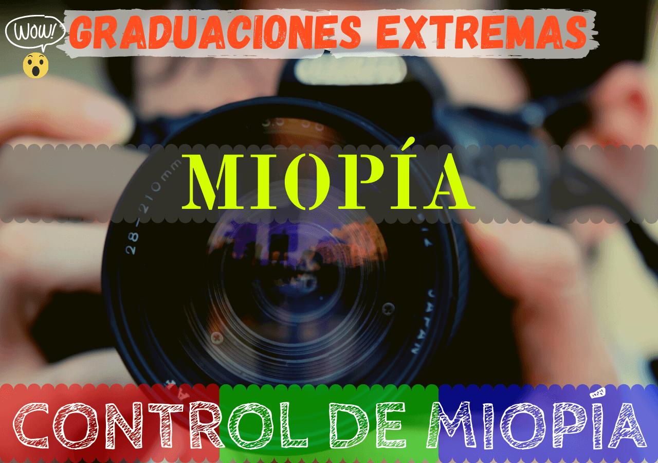 Banner de miopía degenerativa - Graduaciones extremas