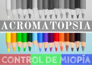 Banner de acromatismo monocromatas monocromatismo pérdida de la visión del color