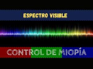 Banner del espectro visible en control de miopía