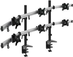 Estructura soporte para 6 pantallas de ordenador, hacer un puesto informático avanzado o una estación trader.