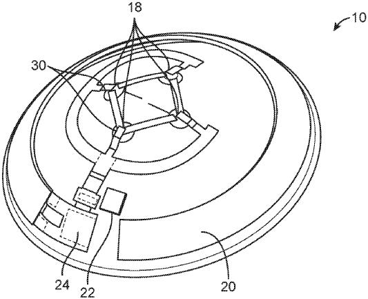 patente de las gafas kubota en el que se describe un dispositivo de proyección de imágenes en la retina del paciente.