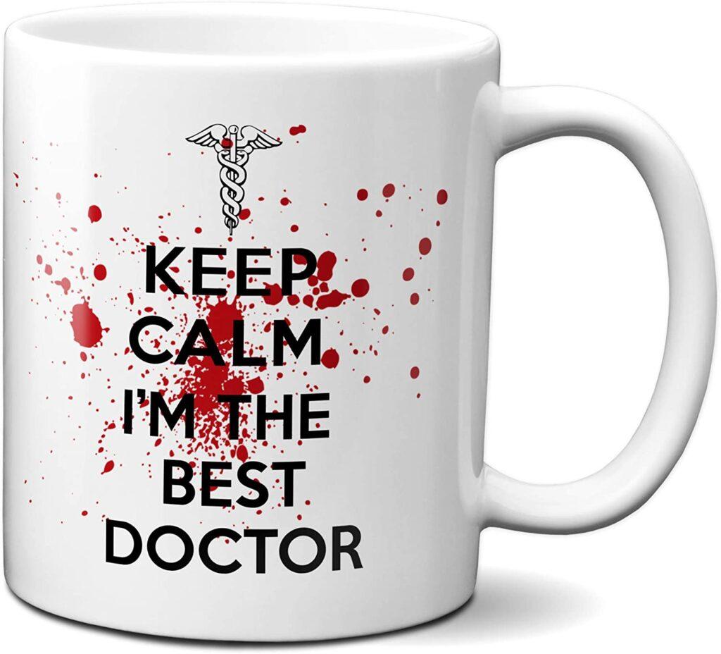 taza regalo para estudiantes de medicina y médicos, enfermeros y otros sanitarios.